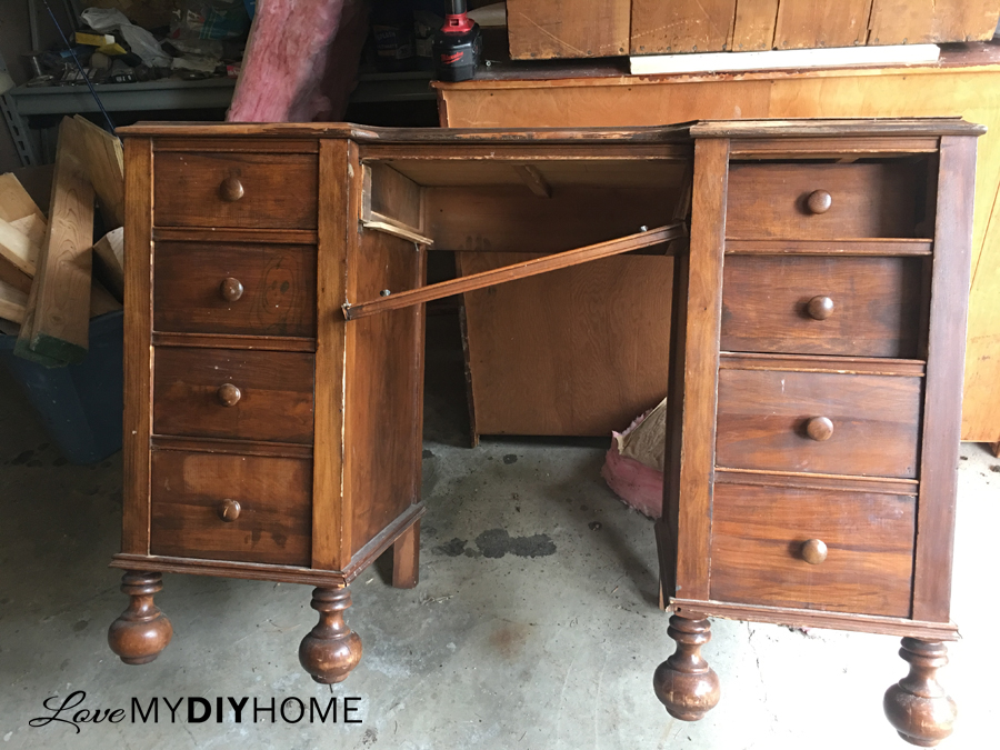 Desk into night stands before